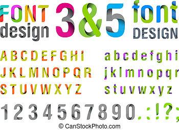 最新流行である, 上, new., font.