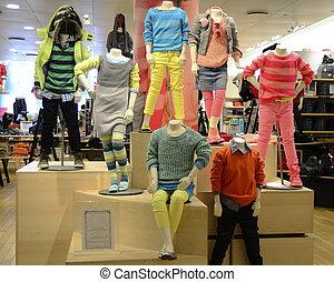 最新流行である, 子供, 衣類, 快適である