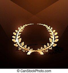 月桂樹の冠, 金