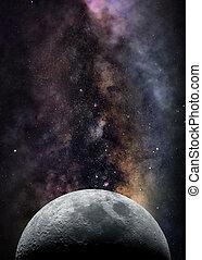 月, スペース