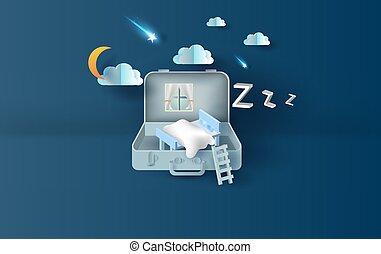 月, スペース, vector., バックグラウンド。, 星, 美しい, スタイル, 芸術, night., 持ちなさい, 技能, ソファー, bag., ペーパー, 寝室, 射撃, shadow., デザイン, 考え, 3d, テキスト, あなたの, イラスト, スーツケース, light., 概念