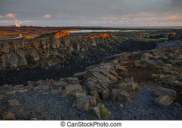 有名な場所, ∥間に∥, アイスランド, 大陸