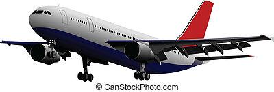有色人種, vect, 乗客, airplanes.