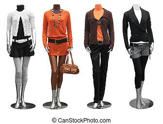 服, マネキン, ファッション