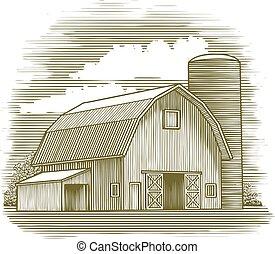 木版, 納屋, 古い