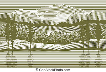 木版, 荒野