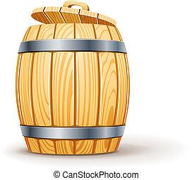 木製である, ふた, 樽