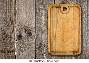木製である, まな板, 背景