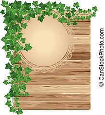 木製である, ツタ, 背景