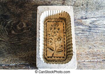 木製である, バター, 古い, 形態