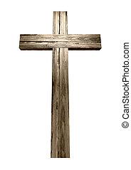 木製である, 十字架像