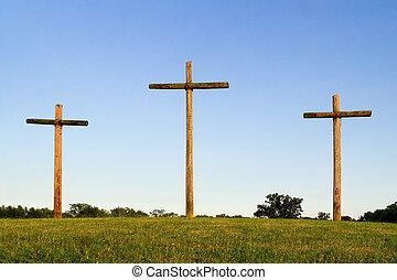 木製である, 十字, 3, 丘