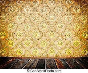 木製である, 型, 壁紙, 花, floor.