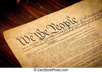 木製である, 州, 合併した, 憲法, 机