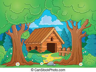木製である, 建物, 主題, 木