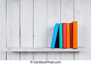 木製である, 本, shelf.