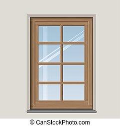 木製である, 窓, アーチ形にされる