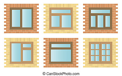 木製である, 窓, セット, 外面