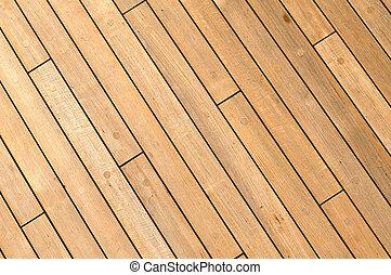 木製である, 船, 対角線, 背景, デッキ