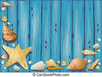 木製である, 貝殻, 背景