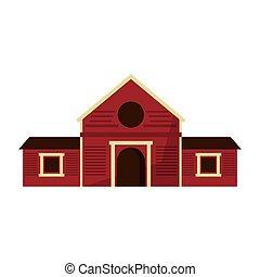 木製である, 農場, 納屋, 建物, 隔離された