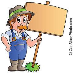 木製である, 農夫, 板, 保有物, 漫画