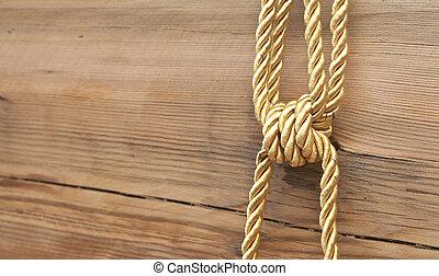 木製である, 金, 結び目, 背景