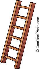 木製のはしご, イラスト
