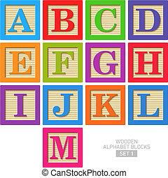 木製のアルファベットブロック