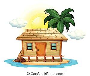 木製の小屋, 熱帯 島