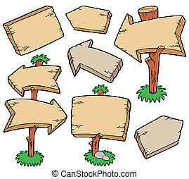 木製の板, コレクション