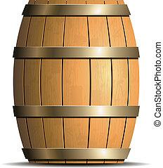 木製の樽, ベクトル