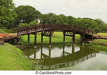 木製の橋, 公園