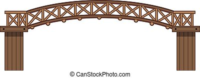 木製の橋, 隔離された