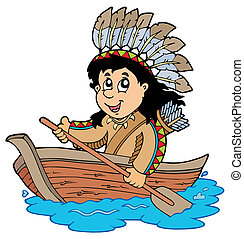 木製の indian, ボート