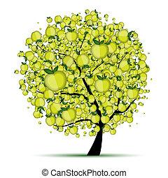 木, あなたの, アップル, デザイン, エネルギー