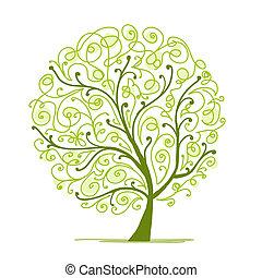木, あなたの, 芸術, 緑, デザイン