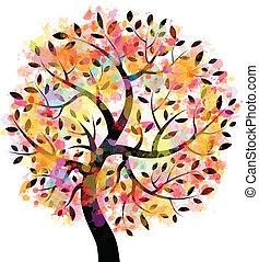 木, カラフルである