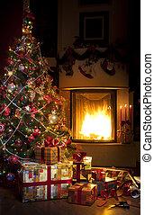 木, クリスマスの ギフト