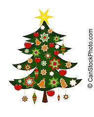 木, クリスマス装飾