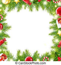 木, クリスマス, ボーダー