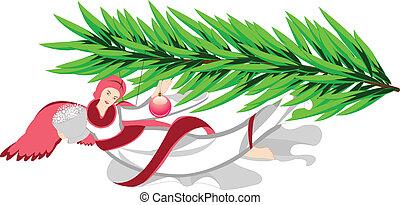 木, クリスマス, 天使
