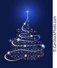 木, クリスマス, 星