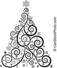 木, クリスマス, 華やか
