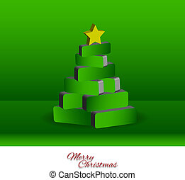 木, -, クリスマス, 3d