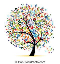 木, デザイン, あなたの, デジタル