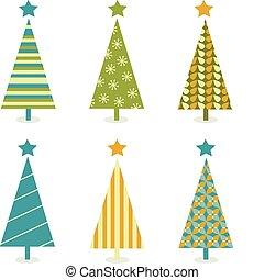 木, ファンキーである, デザイン, レトロ, クリスマス