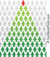 木, 主題, クリスマス, ビジネス, 矢