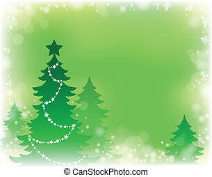 木, 主題, シルエット, クリスマス, 3