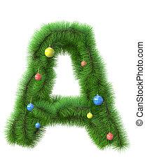 木, 作られた, ブランチ, クリスマス, 手紙